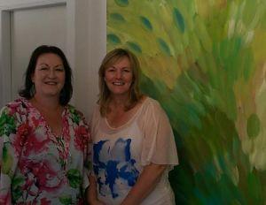 deb and christine at cv art gallery