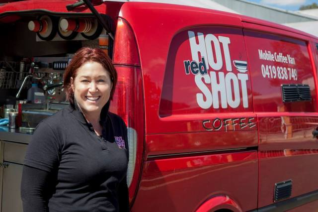 Jodi Weckert, owner of Red Hot Shot Coffee