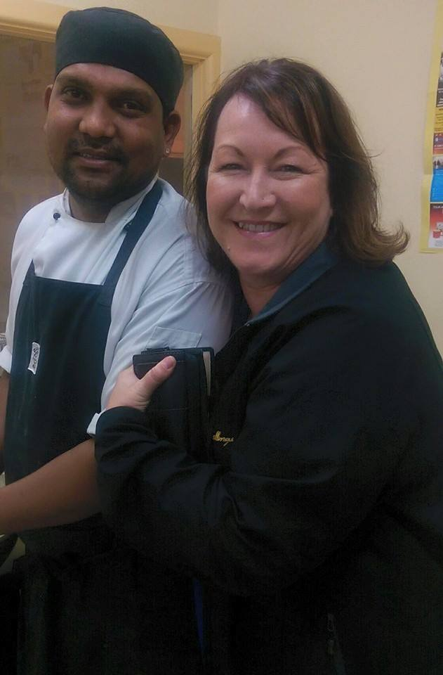 Showing my gratitude to Indii of Clare chef, Rahul